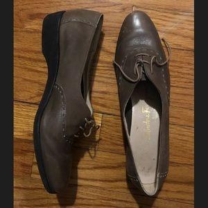 Salvatore ferragamo lace up Oxford shoe loafer 6.5